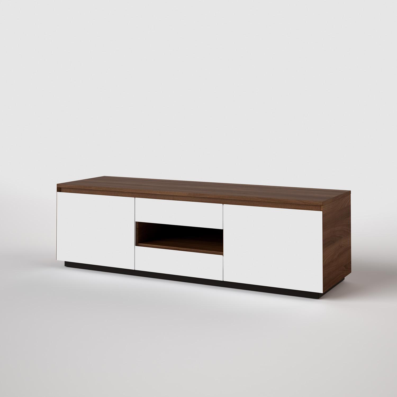 Tv Meubel Wit Noten.Goretti Verona Tv Meubel 105 Collection Lits Armoires Tables
